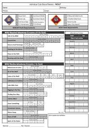 Webelos Attendance Chart Webelos Fitness Requirements Fitness And Workout