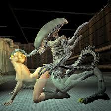 Animated alien fucking blonde