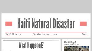 Haiti Natural Disaster by Ashley Barajas