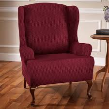 elegant impression of armchair wingback chair slipcover for living room furniture