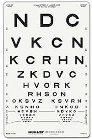 How To Use Sloan Eye Chart Amazon Com 1161086 Sloan Letter Chart 10 Ea Good Lite Co