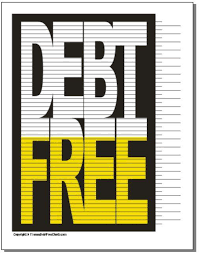 Debt Free Charts Printable Free Charts For Staying Motivated On Your Debt Free Journey