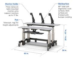electronic height adjustment workstation design specifications