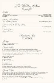 Catholic Wedding Ceremony Program Templates Catholic Wedding Sample Programs