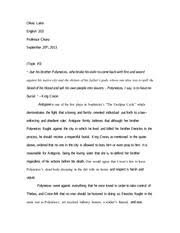essay on the poem the disappointment olivia laino english  5 pages essay on antigone