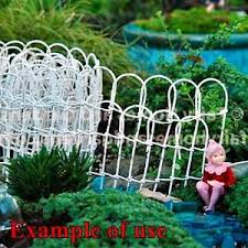 wire garden fence. Image Is Loading MINIATURE-WHITE-WIRE-GARDEN-FENCE-2-5-034- Wire Garden Fence