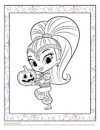 Shimmer And Shine Coloring Pages Printable Jokingartcom Shimmer