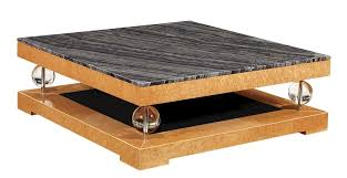 ... Coffee Table, Extraordinary Brown And Gray Square Antique Wood Art Deco  Coffee Table With Self ...