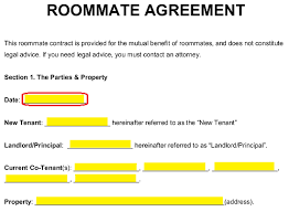 Roommate Agreement Contracts Free Roommate Room Rental Agreement Template Pdf Word