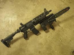chainsaw gun. chainsaw attachment gun 3