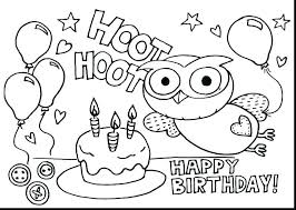 Birthday Coloring Page And Birthday Cake Coloring Page Free