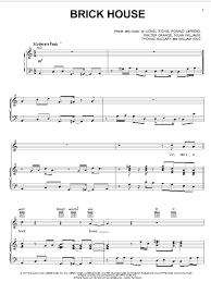 Commodores Brick House Sheet Music Notes Chords Download Printable Guitar Chords Lyrics Sku 162113