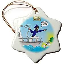 funny snowflake ornaments how not to dock a houseboat holiday xmas tree hanging ornaments decoration