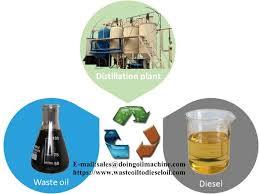 waste engine oil to sel distillation