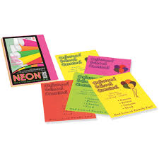 Pacon Bond Paper Assorted Neon 100 Pack Quantity Walmart Com