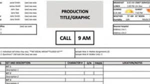 Call Sheet Template Download a Free Call Sheet Template to Get Your Film Crew on the 1