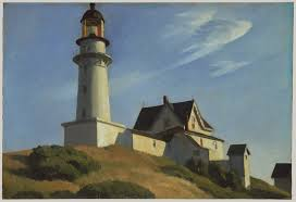the lighthouse at two lights edward hopper work of art  the lighthouse at two lights