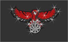 """Rhinestone Transferi """"Atlanta Hawks Kuş"""" Düzeltme, Demir günü ..."""