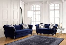 Living Room Furniture Made In The Usa Furniture Of America Sm8802 Sf Sm8802 Lv Ravel I 2 Pieces New Blue