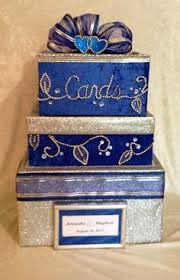 found this style wedding card box online for around 200, made it Wedding Card Box Joanns royal blue bling wedding card box,boxes for wedding cards,wedding,blue wedding dress,sweet 16,quinceanera,card holder for wedding,silver Rustic Wedding Card Box