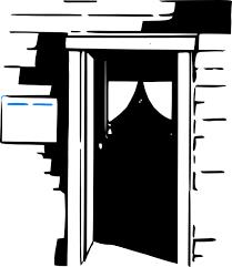 house door clipart. Free Vector House Home Door Clip Art Clipart