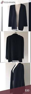August Max Black Lined Box Jacket Size 5 August Max Black