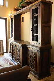 custom spanish style furniture. Custom Hacienda Style Build In Piece Manufactured With Wrought Iron Grills. Spanish Furniture O