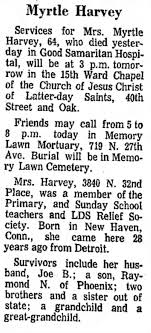 Obituary for Myrtle Harvey (Aged 64) - Newspapers.com