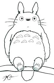 Totoro Coloring Book Pages Sheets Ilovezclub