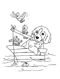 Small Picture Dog coloring pages fishing with birds ColoringStar