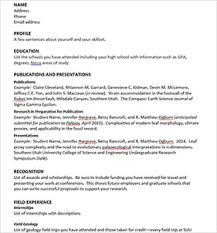 Build Resume Build Your Geology Resume And Cv Geology Geosciences