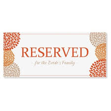 reserved sign templates sign template word professional template