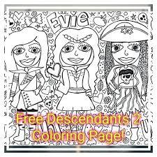Descendants 2 Coloring Pages Free Descendants 2 Coloring Page Click