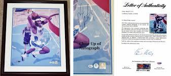 Carmelo Anthony Autographed Photo 16x20 Inch Custom Framed 22x26