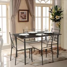 Kitchen Table And Chairs Only Us7999 Ikayaa 5pcs Modern Metal Frame Dining Kitchen Table