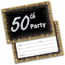 Mens Birthday Invitations 50th Birthday Party Invitations Age 50 Male Mens Female Womens Pack