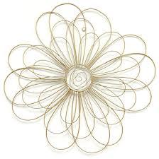 stratton home decor gold wire flower