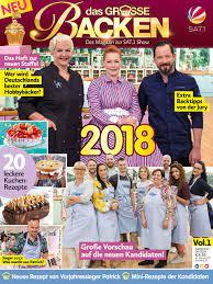Das Grosse Backen - Das Magazin zur SAT.1 Show Vol. 1: Das Heft zur neuen  Staffel 2018: Amazon.de: Oliver Buss: Bücher