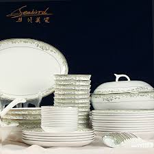 get ations 72 new fresh relief gilt head jingdezhen bone china tableware suit crockery bowl dish suits the