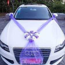 Wedding Car Decorations Accessories Artificial Flowers Car Decoration Sets Wedding Pompoms Silk Flower 55