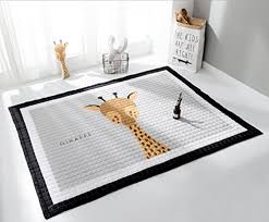 laghcat children rug thickening carpet pad with animal soft mat for baby creeping giraffe