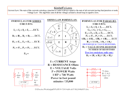 component volts formula power calculator lost full size wiring standards electrical circuit diagram