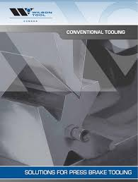 Wilson Tool Die Clearance Chart Conventional Press Brake Tooling Catalog