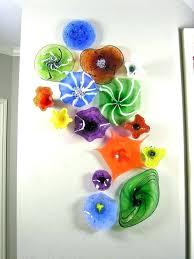 glass wall art glass flower wall art blown glass flower wall art glass art blown glass