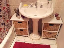 bathroom pedestal sink storage. Wonderful Bathroom Appealing Pedestal Sink Storage Ideas About  Diy On Bathroom Pedestal Sink Storage S