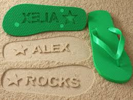 Flip Flop Shoe Size Chart Custom Name Flip Flops Personalized Sand Imprint Sandals Click Or Scroll Through Pics For Size Chart