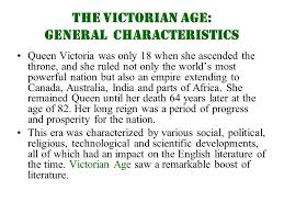 the victorian age in english literature ppt video online  the victorian age general characteristics