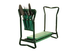 garden kneelers. 2in1 FOLDING PORTABLE GARDEN KNEELER FOAM SEAT KNEE PAD PADDED STOOL W TOOL BAG Garden Kneelers