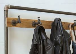 Country Style Coat Rack Nordic American country industrial pipes iron coat rack floor 27