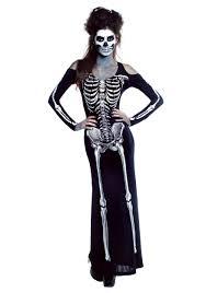 womens bone appe skeleton long dress costume